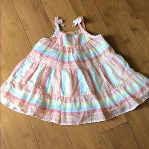 Gymboree striped 100% cotton sundress/bloomer 3-6M